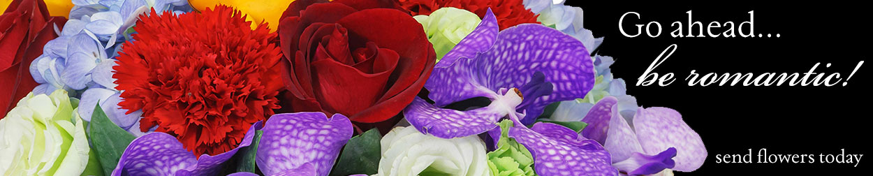 Go ahead... be romantic!  Send fresh flowers to someone special today.