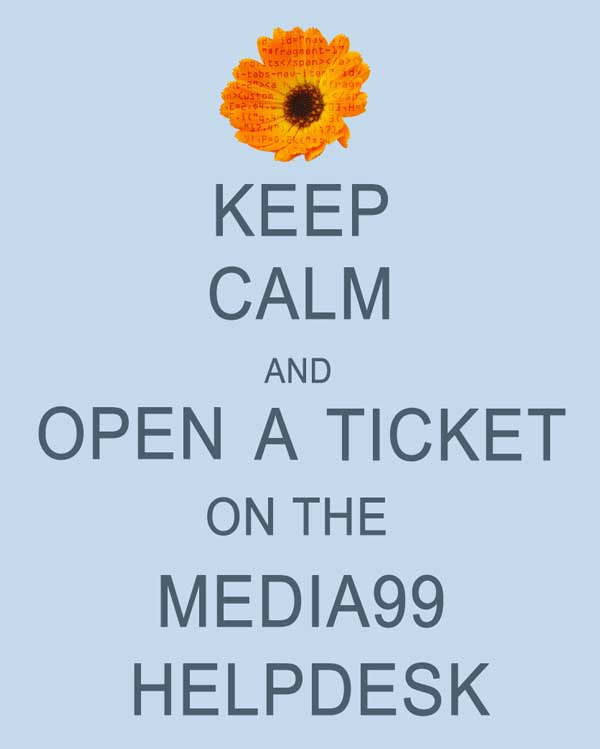 The Media99 Florist HelpDesk is the way to take care of day to day questions concerning your florist website.
